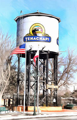 Poster featuring the photograph Railroad Park Tehachapi California by Floyd Snyder