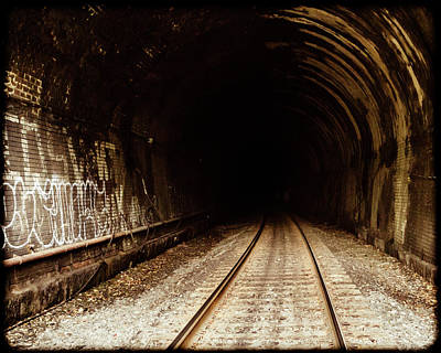 Railroad Tunnel Poster by Eclectic Art Photos