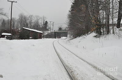 Poster featuring the photograph Rails In Snow by John Black