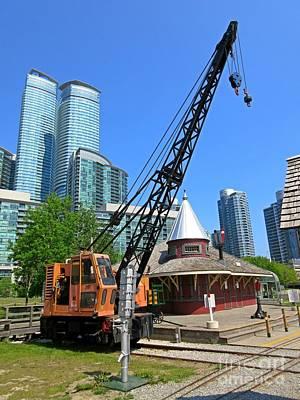 Railway Crane At Roundhouse Park Toronto Poster by John Malone