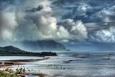 Rain Clearing Kaneohe Bay Poster