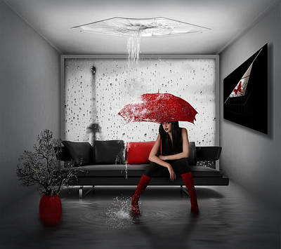 Rain In Paris Poster by Nataliorion