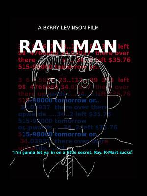 Rain Man Movie Poster  Poster by Enki Art