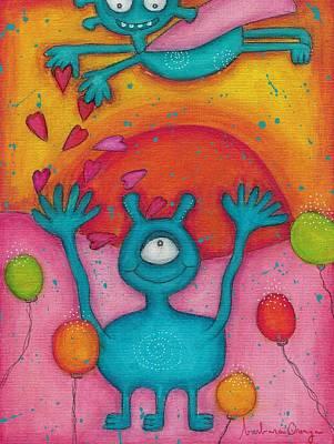 Rain Of Love Poster by Barbara Orenya