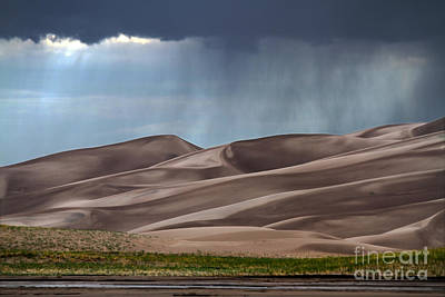 Rain On The Great Sand Dunes Poster by Catherine Sherman