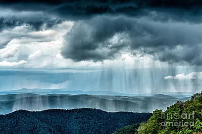 Rain Shower Staunton Parkersburg Turnpike Poster
