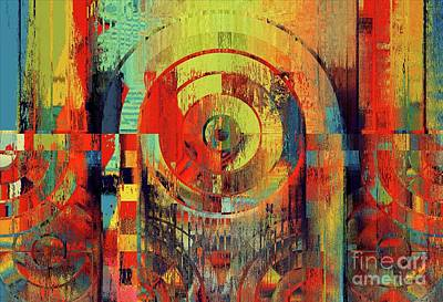 Poster featuring the digital art Rainbolo - 01t01ii by Variance Collections