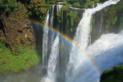Rainbow At Iguazu Falls Poster