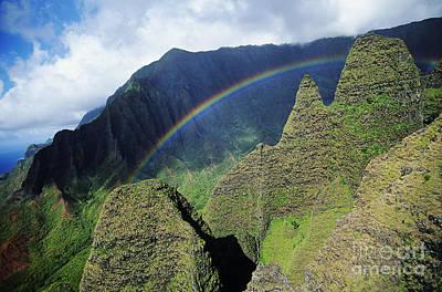 Rainbow At Na Pali Coast Poster by Bob Abraham - Printscapes