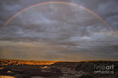 Poster featuring the photograph Rainbow At Sunset by Melany Sarafis