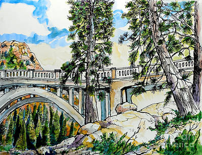 Rainbow Bridge At Donner Summit Poster