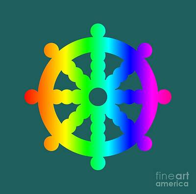 Rainbow Buddhism Symbol Poster by Frederick Holiday