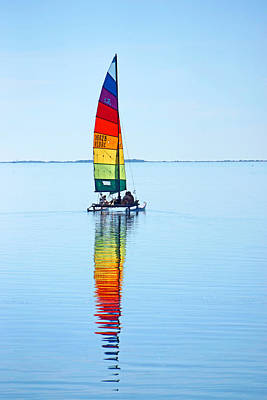 Rainbow Catamaran Poster