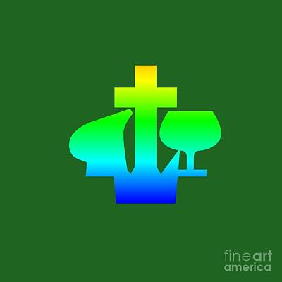 Rainbow Christian And Missionary Alliance Symbol Poster by Frederick Holiday