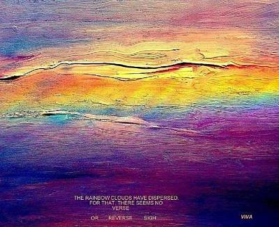 Rainbow Clouds - Blown Away Now - A Lament Poster