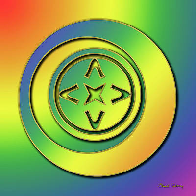 Poster featuring the digital art Rainbow Design 2 by Chuck Staley
