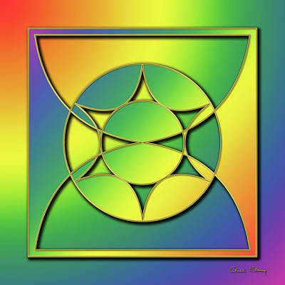 Poster featuring the digital art Rainbow Design 3 by Chuck Staley