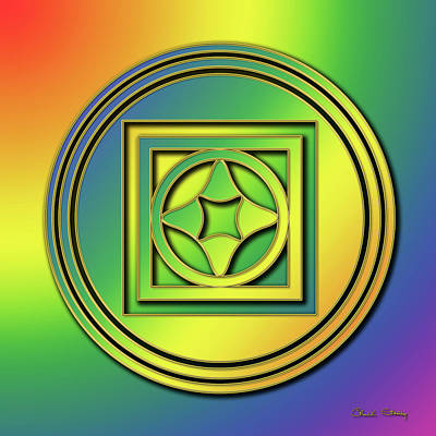 Poster featuring the digital art Rainbow Design 4 by Chuck Staley