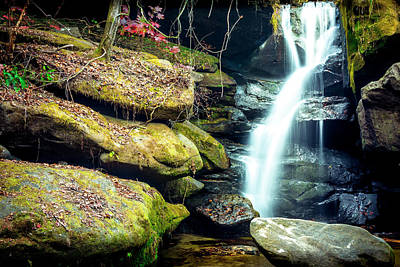 Poster featuring the photograph Rainbow Falls At Dismals Canyon by David Morefield