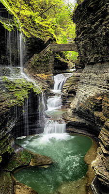 Rainbow Falls Gorge Poster by Stephen Stookey