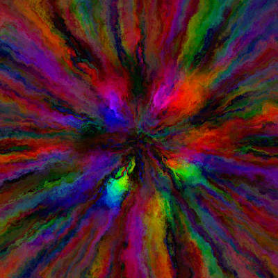 Rainbow Grunge Abstract Poster
