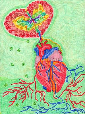 Rainbow Heart Tree  Poster by Isabel Sydow