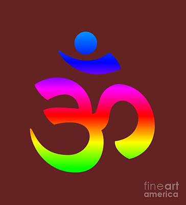 Rainbow Hinduism Symbol Poster by Frederick Holiday
