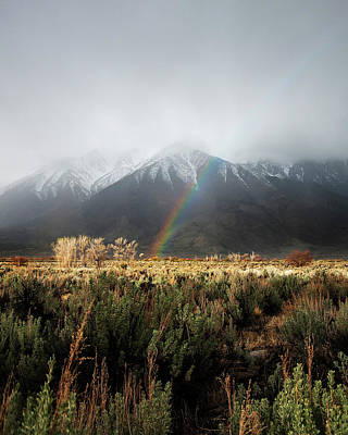 Rainbow In Eastern Sierra Nevadas Poster