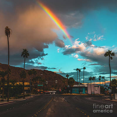 Rainbow In Palm Springs Poster