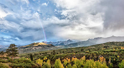 Poster featuring the photograph Rainbow In The San Juan Mountains by Jon Glaser