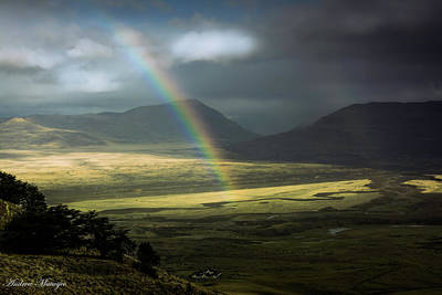 Poster featuring the photograph Rainbow In The Valley by Andrew Matwijec