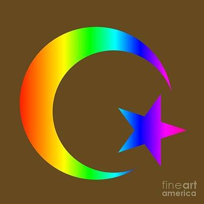 Rainbow Islam Symbol Poster by Frederick Holiday