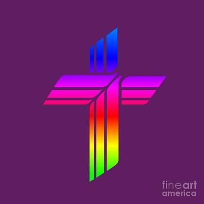 Rainbow Lutheran Church Missouri Synod Symbol Poster by Frederick Holiday