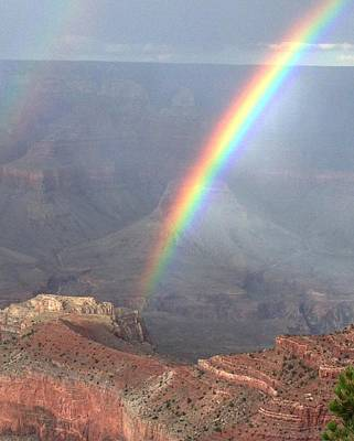 Rainbow Meets Mather Point Poster