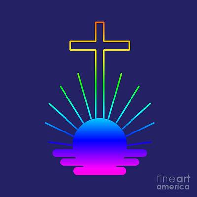 Rainbow New Apostolic Symbol Poster by Frederick Holiday