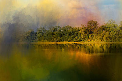 Rainbow Of Color At The River Poster by Jai Johnson