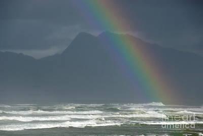 Rainbow On Ocean Poster