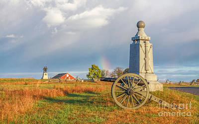 Rainbow On The Gettysburg Battlefield Two Poster
