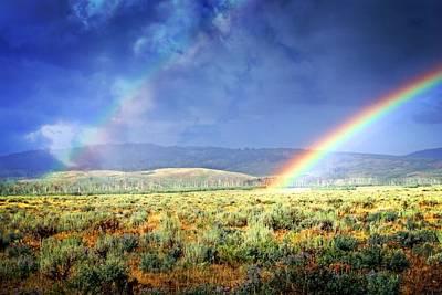 Rainbow On The Sagebrush Poster