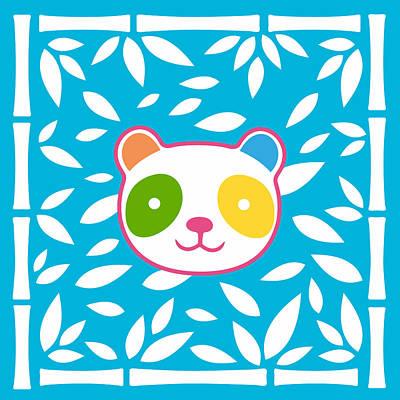 Rainbow Panda Poster by Julia Jasiczak