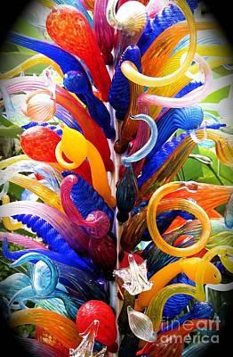 Rainbow Spirals Poster