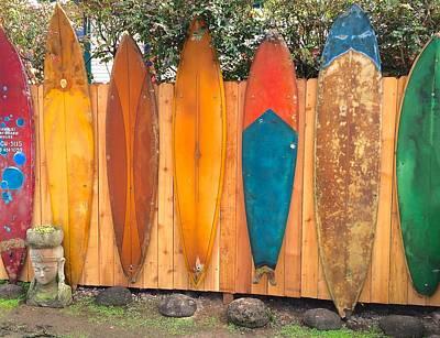 Surfboard Rainbow Poster