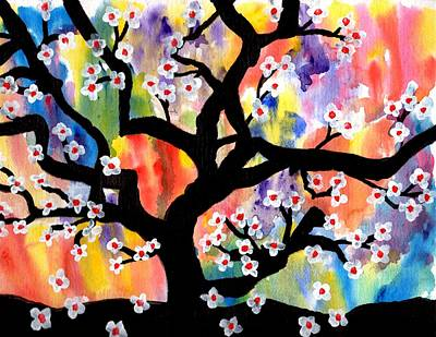 Rainbow Tree Poster by Connie Valasco