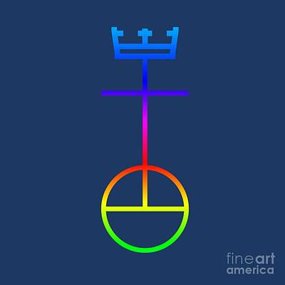 Rainbow United Church Of Christ Symbol Poster by Frederick Holiday