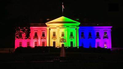 Rainbow White House Poster