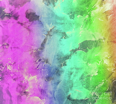 Rainbows And Tiedye Poster by Mindy Sommers