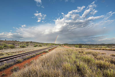 Rainbows Over Ghan Tracks Poster