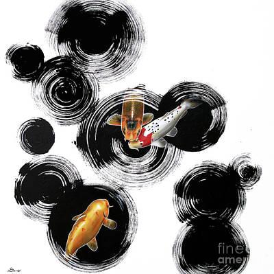 Raindrops Reveal 3 Poster by Sandi Baker