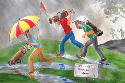 Rained Out Poster by Marilyn Jacobson