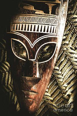 Rainforest Tribal Mask Poster